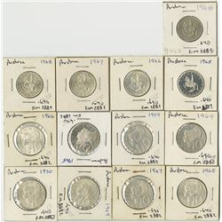 Austria, 1959-1070, Group of 13 Silver Circulating Coins.