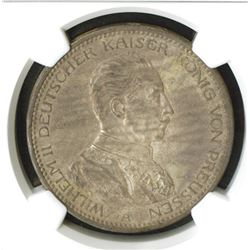 Prussia. 1914A. 5 Mark. NGC graded MS 62.