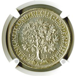 Weimar Republic. 1931A. 5 Reichsmark.