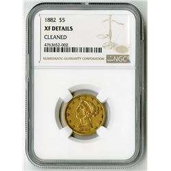 U.S. $5 Liberty Gold. 1882 Liberty Head Half Eagle. XF Details, Cleaned (NGC).