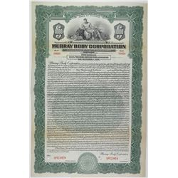 Murray Body Corp., 1924, $1000 Specimen Bond.