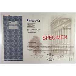 NYSE Group, Inc. 2006 Commemorative Stock Certificate