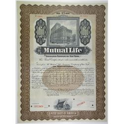 Mutual Life Insurance Co. of New York 1900-20 Specimen Bond