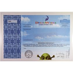 DreamWorks Animation 2004 Specimen Stock Certificate