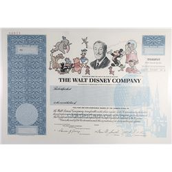 Walt Disney Co., 1993 Specimen Stock Certificate