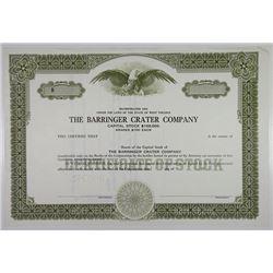 Barringer Crater Co. ca.1940-50's (Pin-punch 1993) Specimen Stock Certificate