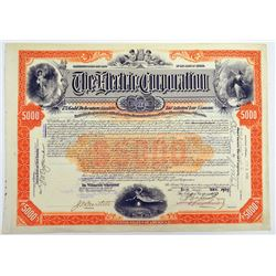 The Electric Corp. 1909 I/U Bond Signed By Charles Francis Adams Jr.