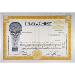 Tiffany & Co., 1970s Specimen Stock Certificate