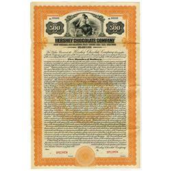 Hershey Chocolate Company 1925 Specimen Gold Bond.