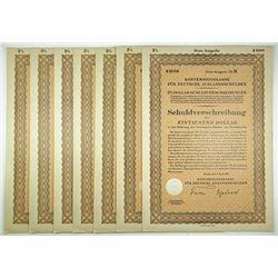 Konversionskasse Fur Deutsche Auslandsschulden, 1937, 3% $1000 Schuldverschreibung Group.