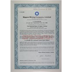 Nippon Mining Co, Ltd., 1984 Specimen Stock Certificate
