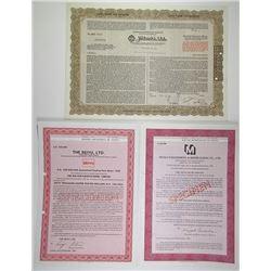 Trio of Japanese Certificate, 1963-1983