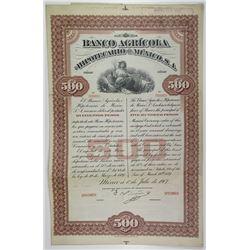 Banco Agricola e Hipotecario De Mexico 1907 Specimen Bond.