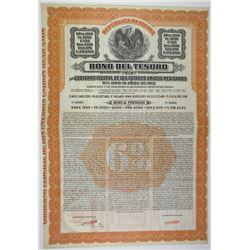 Bono Del Tesoro 1,950 Pesos 1913 Specimen Bond