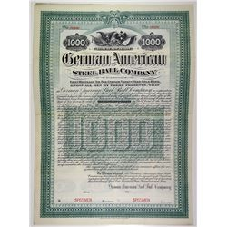 German American Steel Ball Co. 1904 Specimen Bond