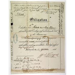J. Frutiger & Co., 1888 Obligation Issued Bond Under German Dominion