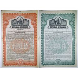 Republic of Panama 1926 Issued Specimen Bond Pair