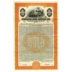 Remington Arms Co. Inc., 1922 Specimen Bond