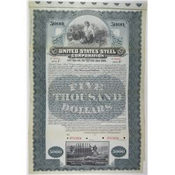 United States Steel Corp. 1901 Historic First Issue Specimen Bond