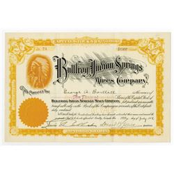 Bullfrog Indian Springs Mines Co., 1907 Issued Stock Certificate