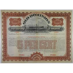 Old Dominion Steamship Co. 1898 Specimen Bond