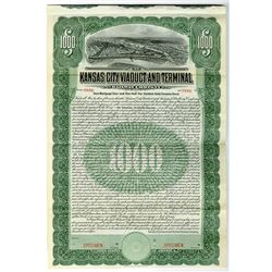 Kansas City Viaduct & Terminal Railway Co. 1905 Specimen Bond