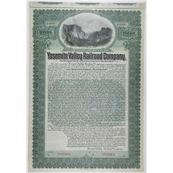 Yosemite Valley Railroad Co. 1906, Historic Specimen 1st Mortgage 5% Gold bond.