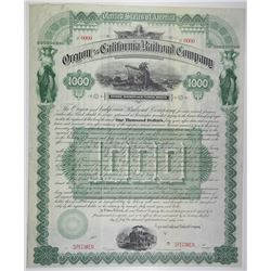 Oregon and California Railroad Co., 1887 Specimen Gold Coupon Bond