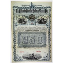 Atlantic-Pacific Railway Tunnel Co. 1887 Specimen Bond