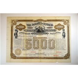 Dakota Central Railway Co., Southeastern Division, 1882 Specimen Bond.