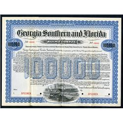 Georgia Southern and Florida Railway Co., 1902 Specimen Bond
