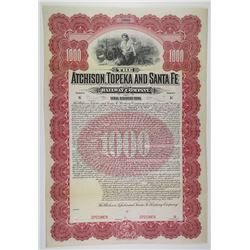 Atchison, Topeka and Santa Fe Railway Co. 1902 Specimen Bond