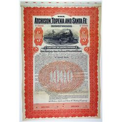 Atchison, Topeka and Santa Fe Railway Co. 1903 Specimen Bond