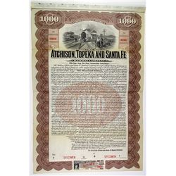 Atchison, Topeka and Santa Fe Railway Co. 1905 Specimen Bond