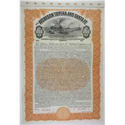 Atchison, Topeka and Santa Fe Railway Co. 1912 Specimen Bond Rarity