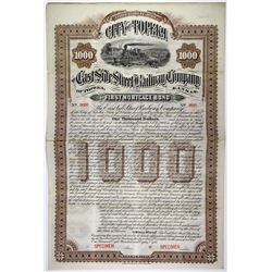 East Side Street Railway Co., 1888 Specimen Bond Rarity