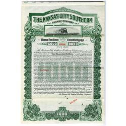 Kansas City Southern Railway Co. 1900 Specimen Bond