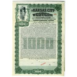 Kansas City-Western Railway Co. 1905 Specimen Bond