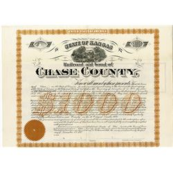 Railroad Aid Bond of Chase County. 1892 Specimen Bond.