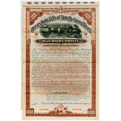 Owensboro, Falls of Rough and Green River Railroad Co. 1892 Specimen Bond