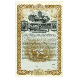 Texas and Pacific Railway Co., 1888 Specimen Bond.