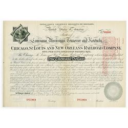 Chicago, St. Louis and New Orleans Railroad Co., 1881 Specimen Bond