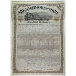 Baltimore and Ohio Railroad Co. 1887 Specimen Bond