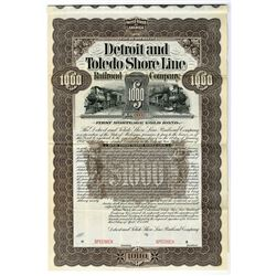 Detroit and Toledo Shore Line Railroad Co., 1899 Specimen Bond