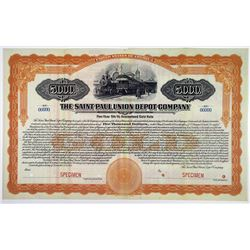 Saint Paul Union Depot Co. 1918 & 1922 Specimen Bond Pair