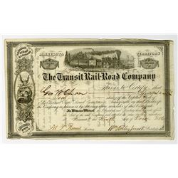 Transit Rail Road Co. 1856 I/U Stock Certificate