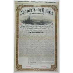 Northern Pacific Railroad and Land Grant, 1881 Specimen Bond.