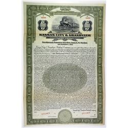 Kansas City & Grandview Railway Co. 1927 Specimen Bond