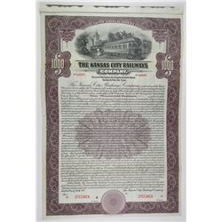 Kansas City Railways Co. 1915 $1000 2nd Mortgage Specimen Bond
