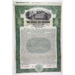 Kansas City Railways Co. 1915 $500 2nd Mortgage Specimen Bond
